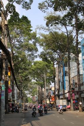 Typische Allee in HCMC.