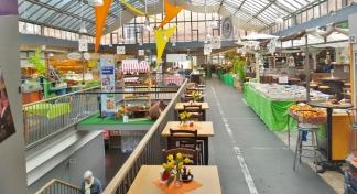 Markthalle in Kassel - Frühstück soll es da auch geben...