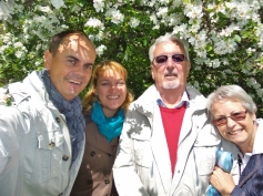 Spaziergang mit den (Schwieger-) Eltern, Heinz und Mattchen