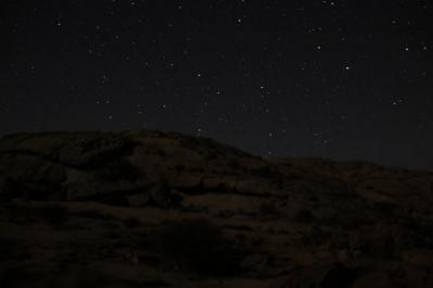 Nachts - ein Wahnsinns-Sternenhimmel.