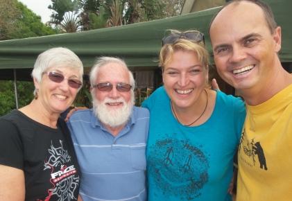 Brigitte und Fred, sehr lustig, sie haben wir mehrfach auf unserem Weg getroffen, völlig ungeplant, da hatten wir was zu lachen.