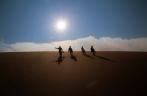 Durch den Sand geht es wieder runter von der Düne - tolles Gefühl an den Füßen, ganz kühl und angenehm.
