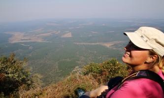 Manchmal sind wir auch hoch oben, mit prima View ins Tal.