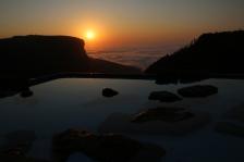 Blick vom Pool am frühen Morgen - ein Hammer, wir wohnen über den Wolken!