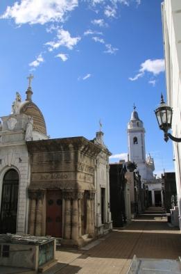 Recoleta Cemetery - kleine Straßen