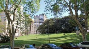Typisch für Buenos Aires: Kleine Parks (meist mit Hunden drin)