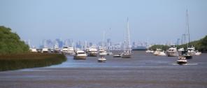 Blick auf Buenos Aires aus der Ferne.