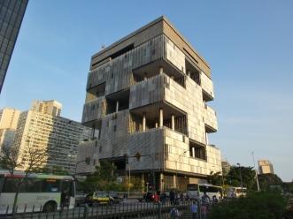 """Auch mal außergewöhnliche Architektur - hier sitzt die Firma """"Petrobras"""" (zu tiefst verstrickt in einen übergroßen Korruptionsskandal)"""