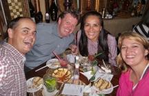 Ein kleines Abendessen mit Cristina und Jürgen mit Live-Musik.