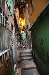 Gasse in den Favelas.