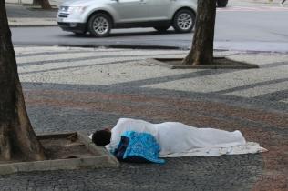 Viel Armut, sehr sichtbar auf den Straßen.