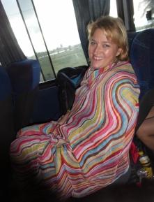 Mit dem Bus vom Flughafen nach Porto de Galinhas (Klimaanlage auf Maximum - saukalt!)