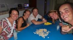 Nette Leute im Hostel getroffen: Dani, Bianca, Mike (Australien)