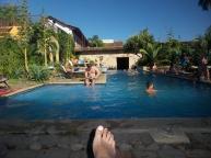 Relaxen am Pool...