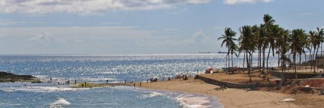 Schöner Strand in Salvador.