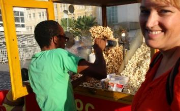 Allgegenwärtig: Popcorn-Verkäufer.