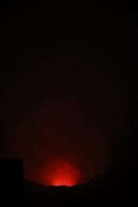Blick in den Vulkan - etwas gruselig ist das schon!