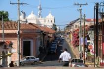 Straße in Leon, Nicaragua