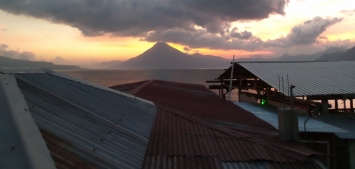 "Vulcano ""San Pedro"" beim Sonnenuntergang"