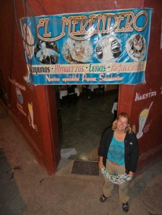 letzter Abend in Guatemala - da geht es noch einmal zünftig gualtematekisch Essen