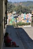 Blick auf den Friedhof in Chichicastenango - sehr bunt