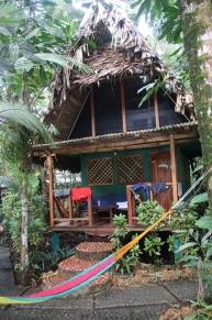 Unser Haus in der Finca Tatin, mitten im Regenwald