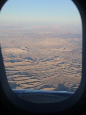 Wir fliegen über die USA (Las Vegas) in Richtung Hongkong